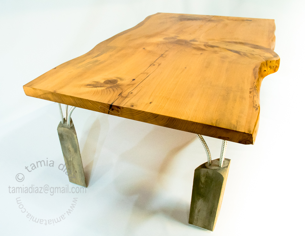 the whole table, cement legs